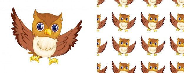 Isolated owl pattern cartoon