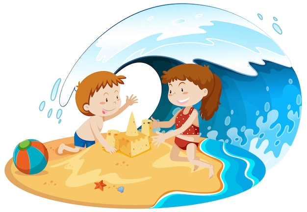 Persone isolate in spiaggia
