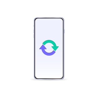 Isolated phone with arrows on the screen vector illustration