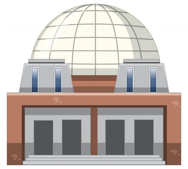 현대 건물의 고립 된 그림