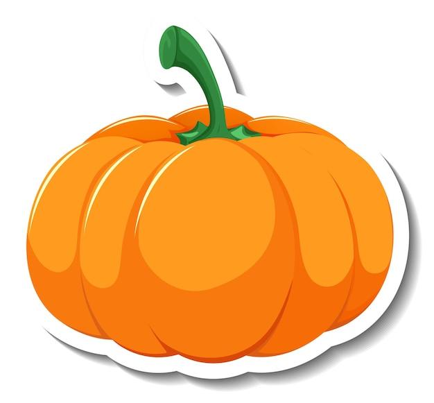 Isolated pumpkin cartoon sticker