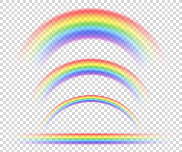Isolated rainbow object, on transparent background, symbol of sexual minorities.