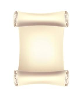 分離されたリアルなスタイルの紙の空の巻物
