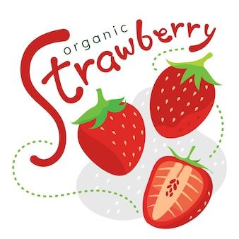 고립 된 빨간 딸기