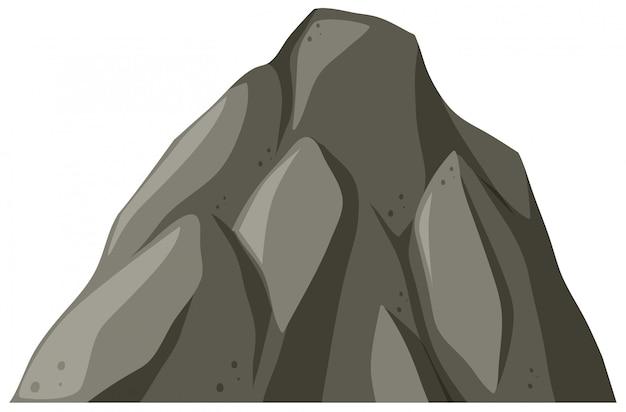 Isolated rock mountain on white background