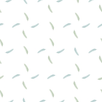 Isolated seamless nature pattern in geometric style with blue ear of wheat ornament. white background. perfect for fabric design, textile print, wrapping, cover. vector illustration.
