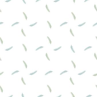 Изолированные бесшовные модели природы в геометрическом стиле с синим колосом пшеницы орнаментом. белый фон. идеально подходит для тканевого дизайна, текстильного принта, упаковки, обложки. векторная иллюстрация.