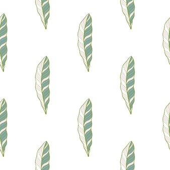 創造的な羽のシームレス パターンで孤立したシームレス パターン