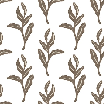 잎 장식으로 고립 된 완벽 한 패턴입니다.