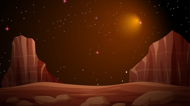 Isolated space background scene or background
