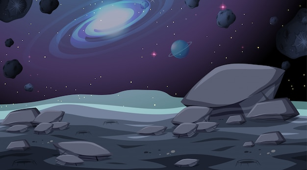 Isolated space background scene