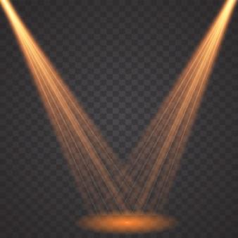 Isolated spotlight. light effect. glow light effect. projector