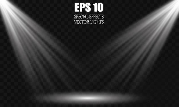Isolated spotlight. light effect. glow light effect.
