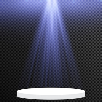 Isolated spotlight. light effect and stage