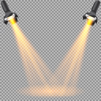 Isolated spotlight. light effect.