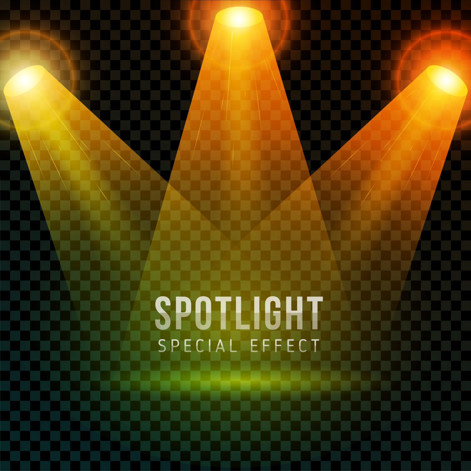 Isolated spotlight special effect