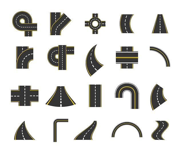 Isolated street icon set