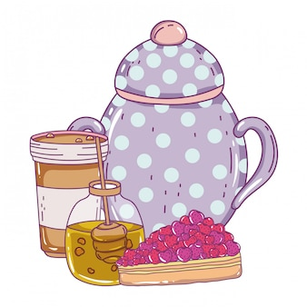 Isolated sugar bowl