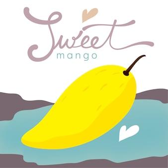 Isolated sweet ripe mango