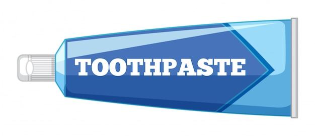 白い背景の上の孤立した歯磨き粉