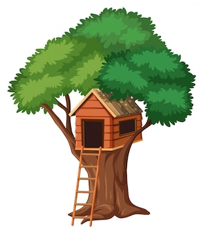 Isolated tree house