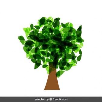 Isolata albero fatto con foglie traslucide