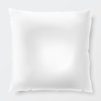 Isolated white pillow with shadow