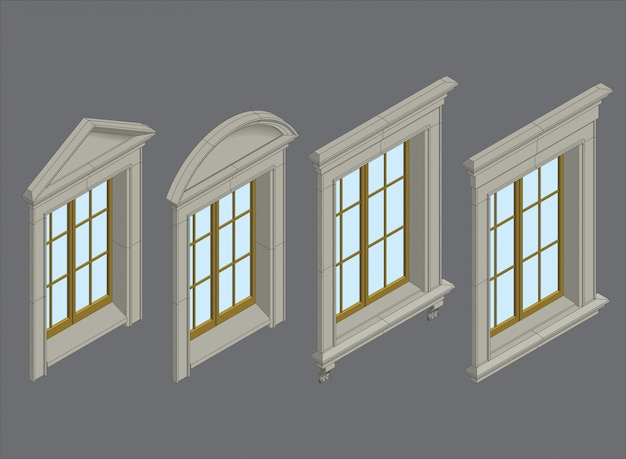 Isomentic windows set