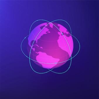 Изометрическая концепция глобальной сети.