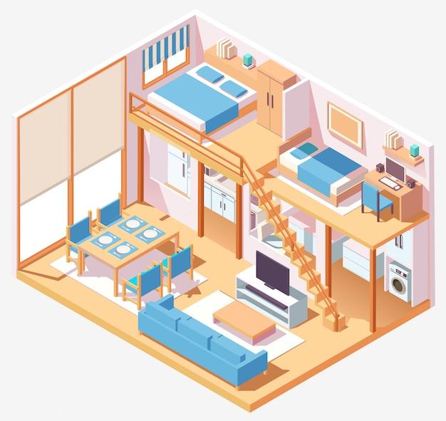 Isometirc indoor house