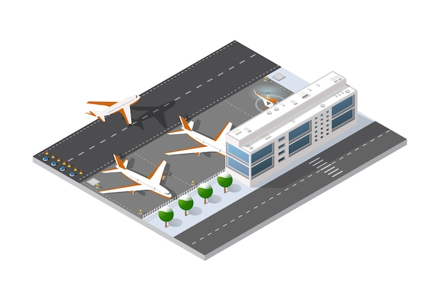 Isometric 3d airstrip