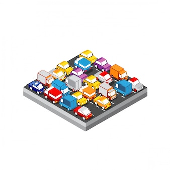 Isometric 3d automobile module