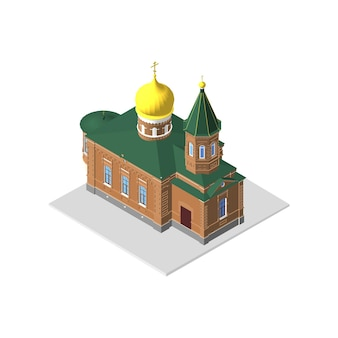 Isometric 3d icon. house vector illustration eps 10