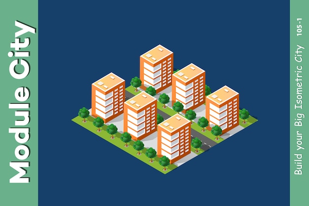 Isometric 3d landscape top
