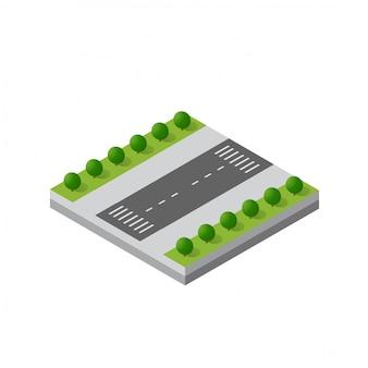 Isometric 3d module district