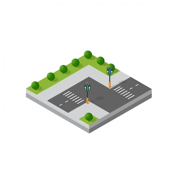 Isometric 3d module district