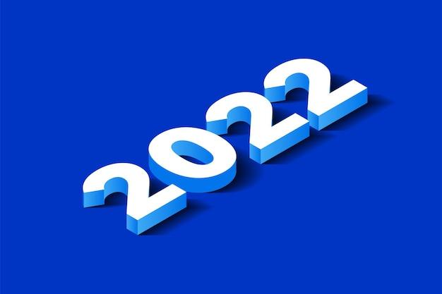 아이소메트릭 3d 숫자 2022