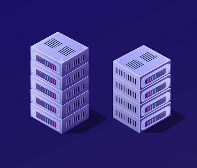 Isometric 3d set blockchain