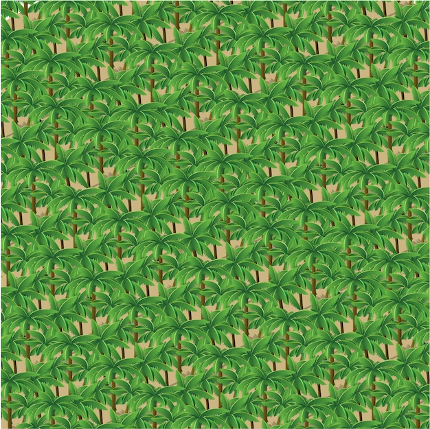 Isometric 3d trees forest nature