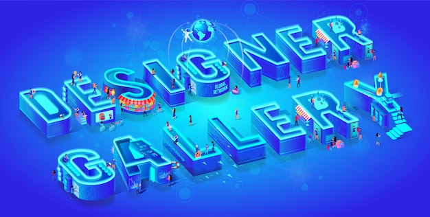 Isometric 3d words designer gallery