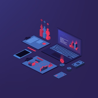 Isometric accounting composition