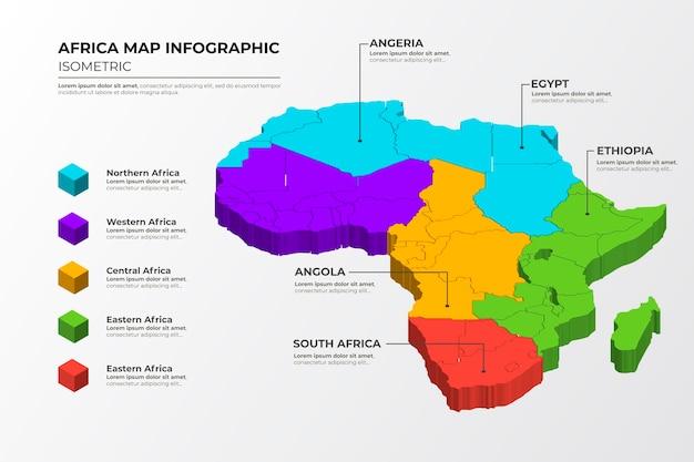 Изометрические африка карта инфографики