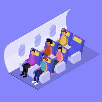 Изометрические концепция посадки на самолет