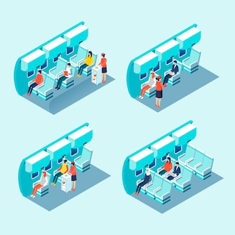 Isometric airplane boarding