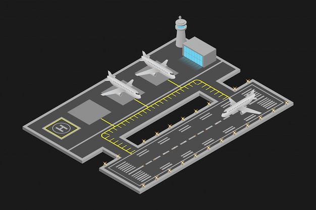 Isometric airport design