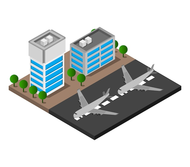 Isometric airport