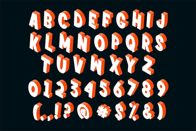 Stile alfabeto isometrico