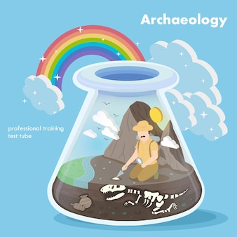 Isometric  of archaeology concept