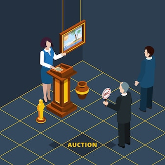 Isometric auction process abstract