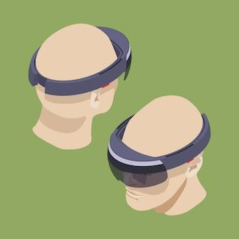 Isometric augmented reality headset